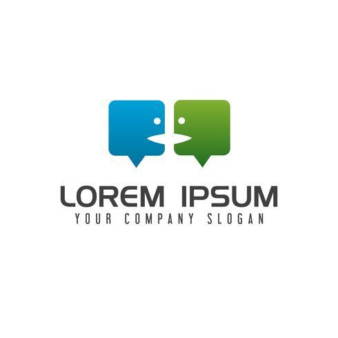 modelo de conceito de design de logotipo de pessoas de bate-papo vetor
