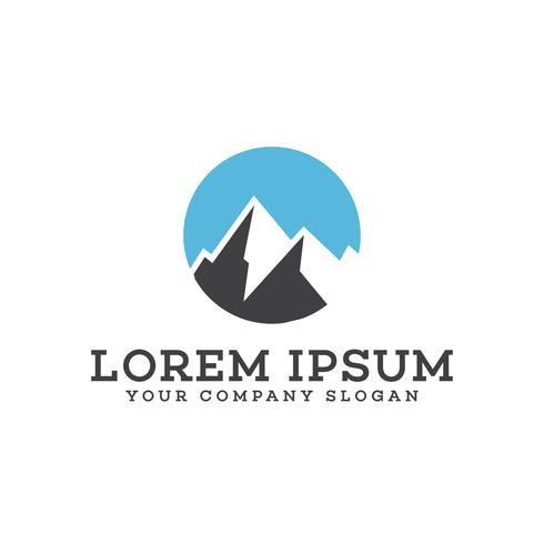 modelo de conceito de design de logotipo de montanha vetor