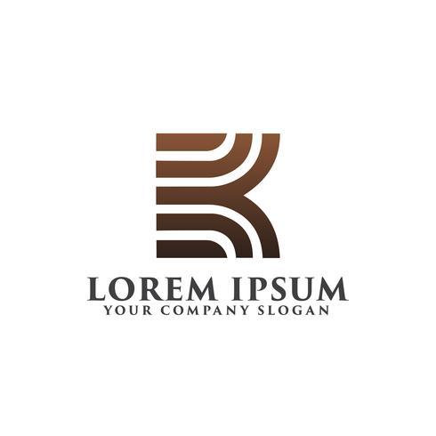 modelo de conceito de design de logotipo de letra k luxo vetor