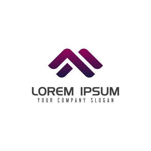 Modelo de conceito de design de logotipo moderno letra M vetor