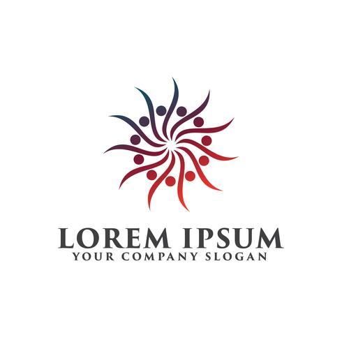 modelo de conceito de design de logotipo de beleza spa abstrato ioga vetor