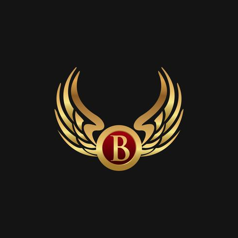 Modelo de conceito de design de logotipo de luxo letra B emblema vetor