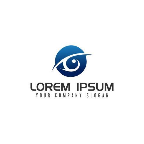 modelo de conceito de design de logotipo de olho vetor