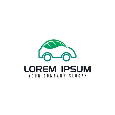 modelo de conceito de design de logotipo de carro eco vetor