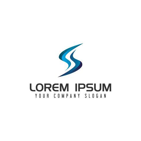 modelo de conceito de design de logotipo moderno letra S tecnologia vetor