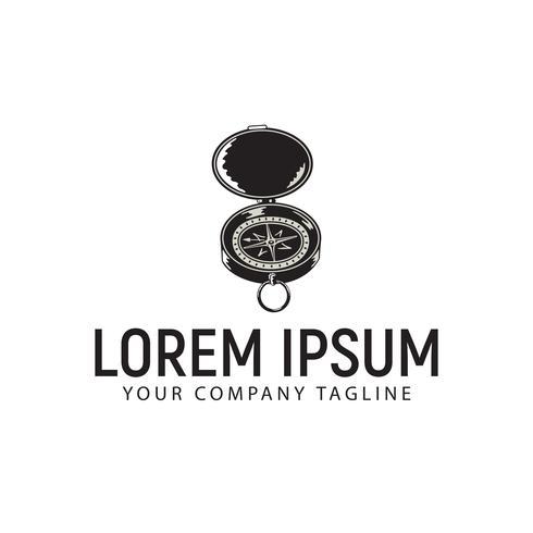 bússola modelo de conceito de design de logotipo vintage retrô vetor