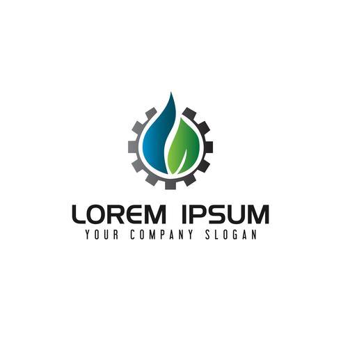 Logotipo de engrenagem líquida de energia. conceito de design de logotipo industrial de gás de petróleo vetor
