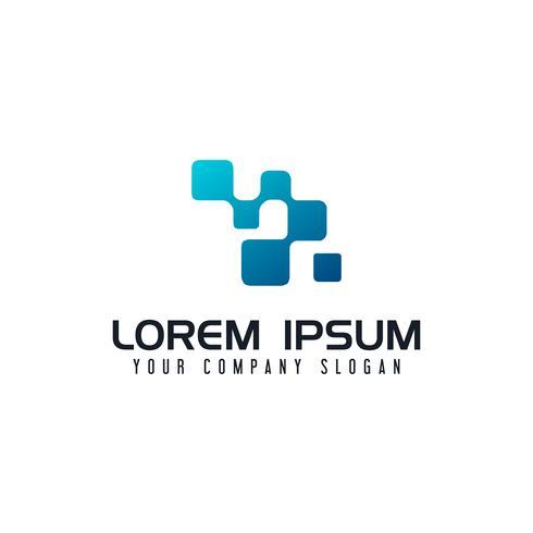 Logotipo da Internet. modelo de conceito de design de forma quadrada vetor