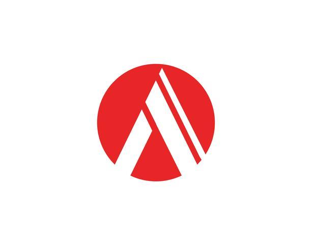 A Letter Logo Business Template Vetor ícone
