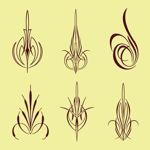 conjunto de coleta de estilo pinstriping américa vetor