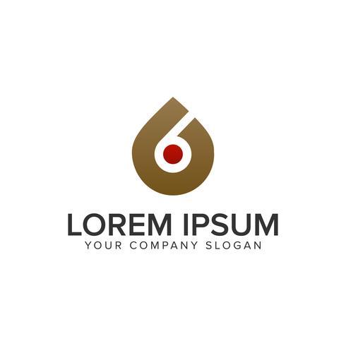 modelo de conceito de design de logotipo líquido gota. vetor totalmente editável