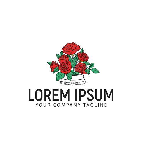 modelo de conceito de design de logotipo rosas vetor