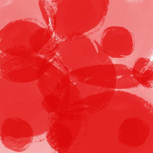 mancha de fundo aquarela na cor vermelha vetor