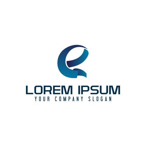 modelo de conceito de design de logotipo moderno letra E vetor