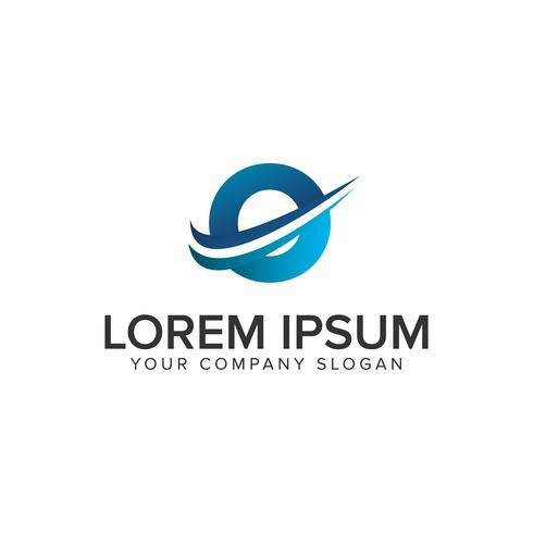 Modelo de conceito de design de logotipo moderno Cative letra O. editar completamente vetor