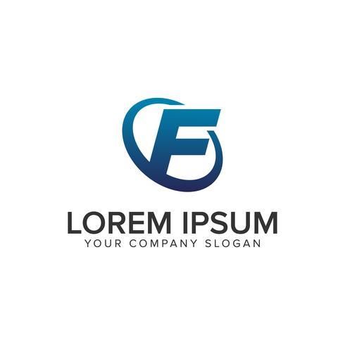 Modelo de conceito de design de logotipo moderno criativo letra F. totalmente ed vetor