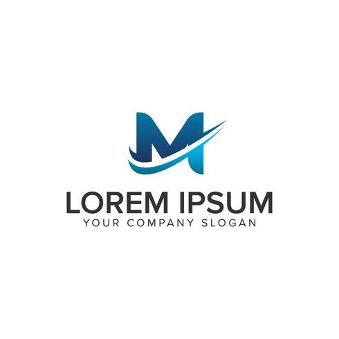 Modelo de conceito de design de logotipo moderno letra M cativo. editar completamente vetor