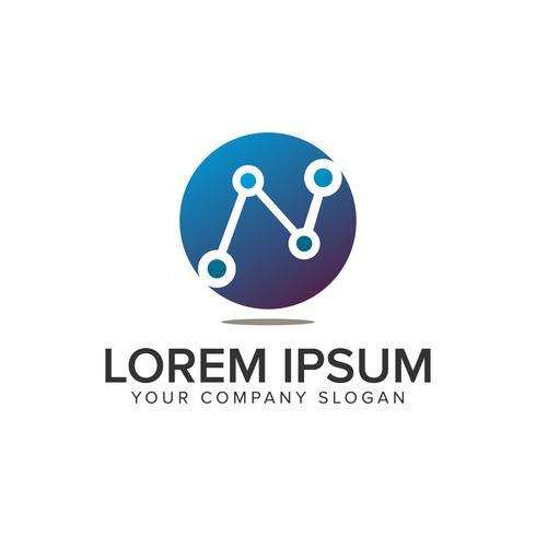 modelo de conceito de design de logotipo de negócio de gráfico de ponto. totalmente editável vetor