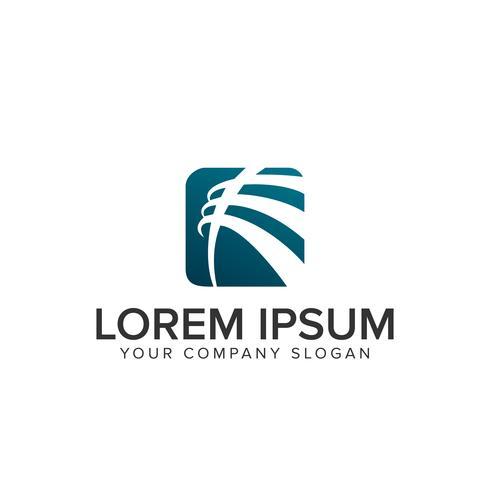 modelo de design de logotipo de negócio abstrato vetor