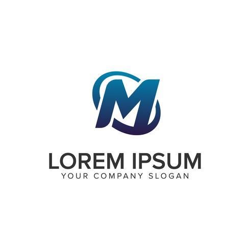 Modelo de conceito de design de logotipo moderno criativo letra M. totalmente ed vetor
