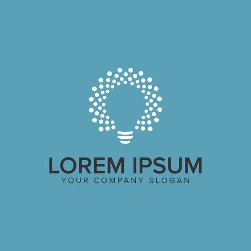 modelo de conceito de design de logotipo de idéia de bulbo. vetor