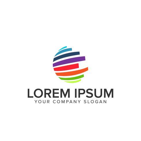 logotipo multicolor globo vetor