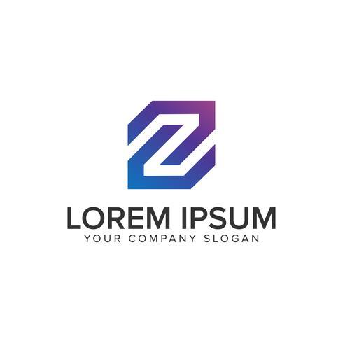modelo de conceito de design de logotipo moderno letra Z. vec totalmente editável vetor