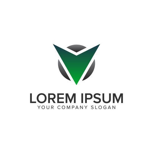 Cative Modern letter V Modelo de conceito de design de logotipo vetor