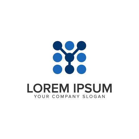 modelo de conceito de design de logotipo letra y ponto. vetor