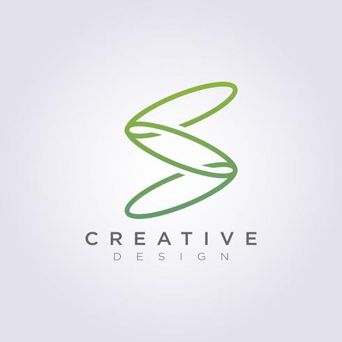 Vector Logo Design ícones símbolos letra S monoline decorativa moderna