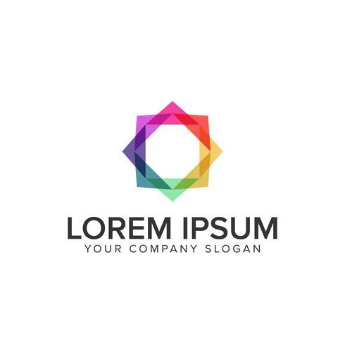 logotipo de mídia quadrado multicolor vetor