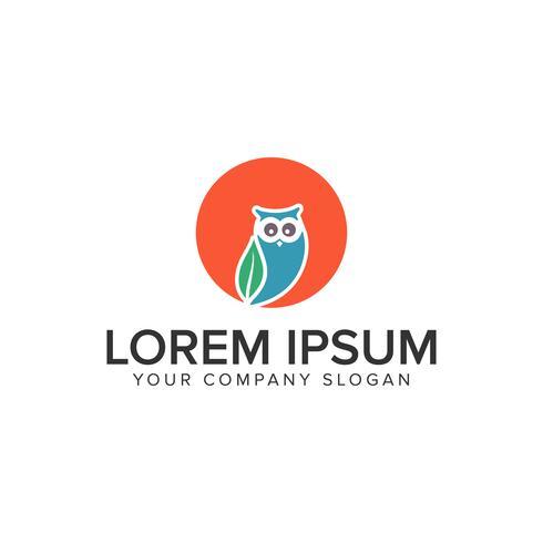Modelo de conceito de design de logotipo de coruja. vetor
