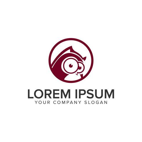 modelo de conceito de design de logotipo de coruja. vetor totalmente editável