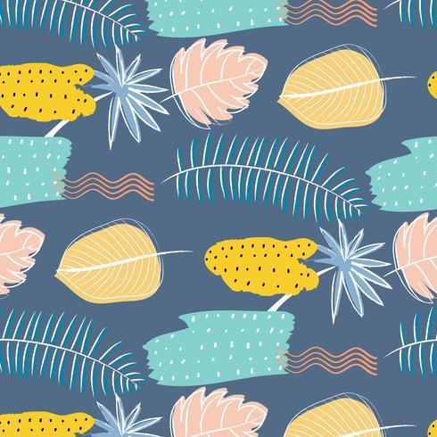 Mão desenhada texturas abstraem base padrão floral. Ilustração vetorial. vetor
