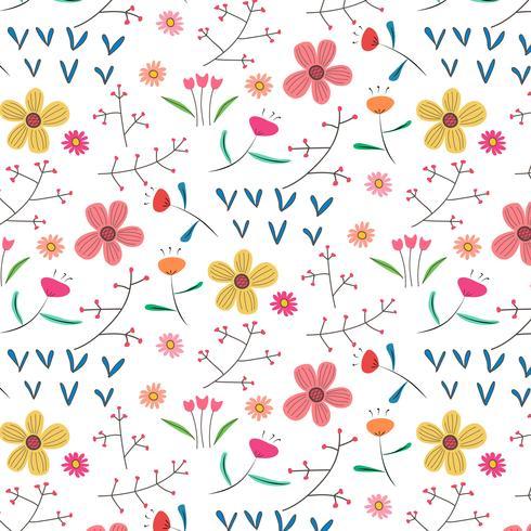 Mão-extraídas Floral De Fundo. Ilustração vetorial. vetor