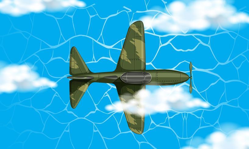 Avião do exército no céu vetor