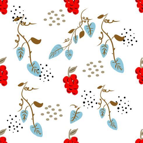 Teste padrão floral ditsy sem emenda com as flores coloridas brilhantes e as folhas no fundo preto no estilo popular ingênuo. Modelo de verão para impressões de moda em vetor. vetor