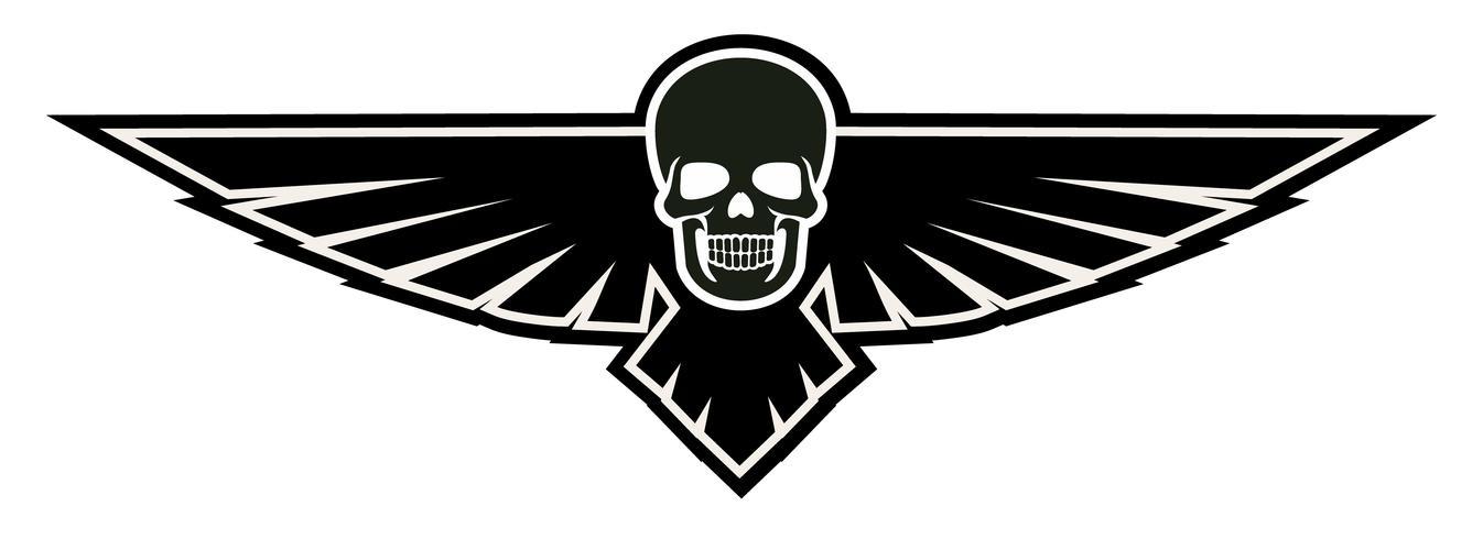 brasão do crânio do exército vetor