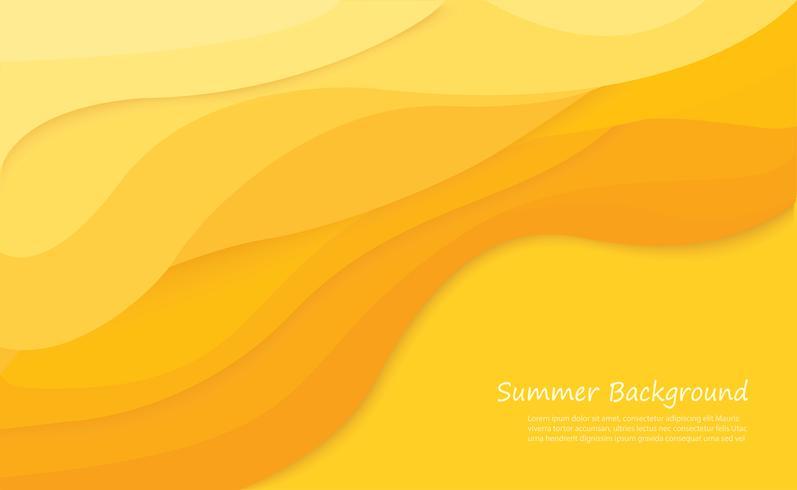 ilustração em vetor fundo praia verão areia