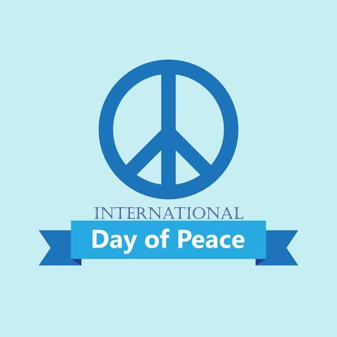 Vector illustration Dia Internacional da paz Pôster