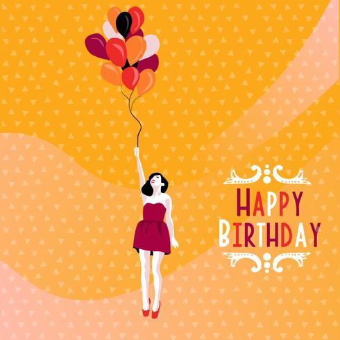 design de cartões de feliz aniversário vetor