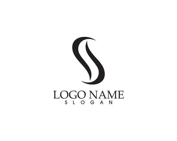 App de ícones de modelo de logotipos e símbolos SS vetor
