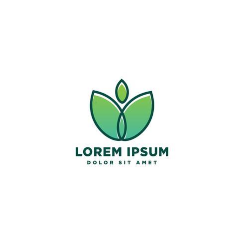 natureza folha eco logotipo modelo vector ilustração ícone elemento
