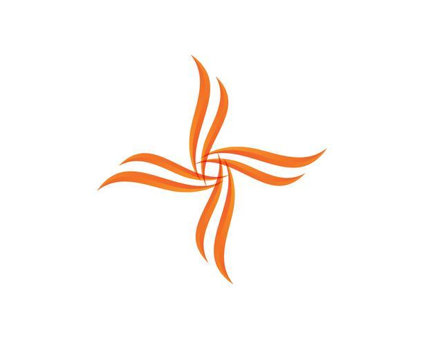 Logotipo de tridente mágico e vetor de modelo de símbolos