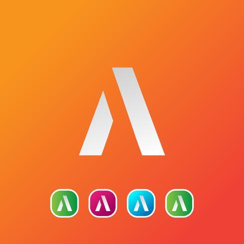 Carta A ilustração em vetor modelo abstrato logotipo criativo