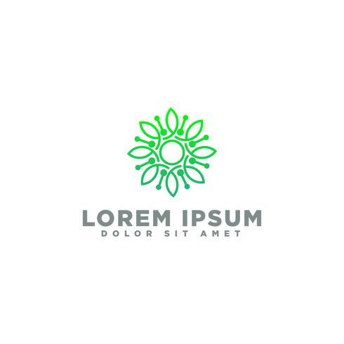 Ícone de logotipo elegante ornamento. Design de ornamento universal vetor