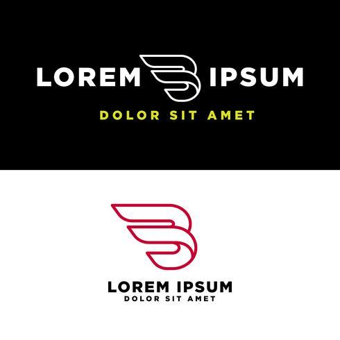 ilustração em vetor modelo logotipo criativo letra B