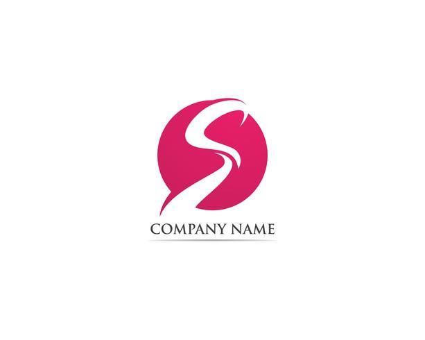 S logotipo e vetor de modelo de símbolos