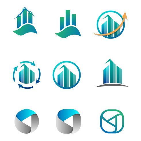 contabilidade, finanças, logotipo de negócios conjunto ilustração vetorial vetor