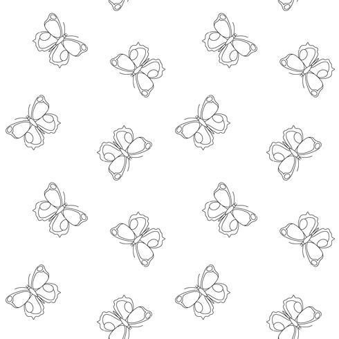 Padrão sem emenda de borboleta. Repetindo o fundo da borboleta para o design têxtil, papel de embrulho, papel de parede, scrapbooking. vetor